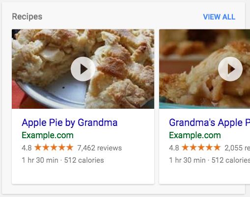 一个菜单搜索结果